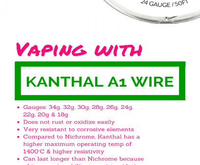 26 gauge kanthal a1 wire Kathal Wire, Kanthal A1 Resistance Wire, Vape Wire, Pinterest 26 Gauge Kanthal A1 Wire Top Kathal Wire, Kanthal A1 Resistance Wire, Vape Wire, Pinterest Photos