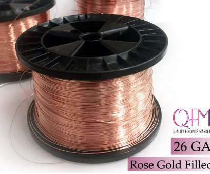 26 gauge rose gold wire 1 meter (3.28 feet) rose gold filled soft wire, Thickness 26 GA (0.4mm), also available in bulk (spools) -, gold filled wire 26 Gauge 26 Gauge Rose Gold Wire Fantastic 1 Meter (3.28 Feet) Rose Gold Filled Soft Wire, Thickness 26 GA (0.4Mm), Also Available In Bulk (Spools) -, Gold Filled Wire 26 Gauge Collections