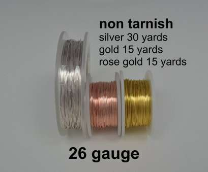 26 gauge rose gold wire Non Tarnish 26 Gauge Wire Silver Gold Rose Gold Copper Core Wire Sold by, Spool, Crafts 26 Gauge Rose Gold Wire Simple Non Tarnish 26 Gauge Wire Silver Gold Rose Gold Copper Core Wire Sold By, Spool, Crafts Images