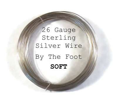 26 gauge sterling silver dead soft wire 26 Gauge Sterling Silver Wire, Dead Soft, .925 Wire By, Foot, Round, Wire, Wire Wrapping, Jewelry Supplies 26 Gauge Sterling Silver Dead Soft Wire Creative 26 Gauge Sterling Silver Wire, Dead Soft, .925 Wire By, Foot, Round, Wire, Wire Wrapping, Jewelry Supplies Photos