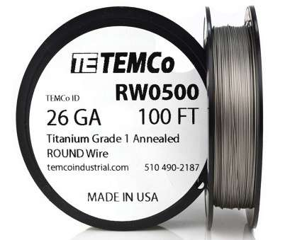 26 gauge titanium wire TEMCo Titanium Wire 26 Gauge 50 FT Surgical Grade 1 Resistance, ga, Amazon.com 13 Fantastic 26 Gauge Titanium Wire Galleries