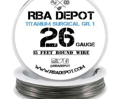 26 gauge titanium wire [RBA DEPOT], 24,, 28 Gauge Titanium 15 Feet Resistance Wire (Gr.1, 99.5%), White Spools, Amazon.com 26 Gauge Titanium Wire Brilliant [RBA DEPOT], 24,, 28 Gauge Titanium 15 Feet Resistance Wire (Gr.1, 99.5%), White Spools, Amazon.Com Ideas