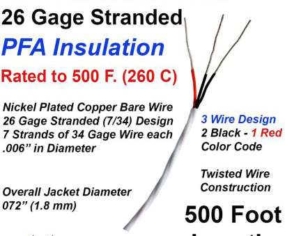 26 gauge wire mm RTD Extension Wire 26 Gage Stranded 3-Wire Design, Insulated, ft Long 26 Gauge Wire Mm Nice RTD Extension Wire 26 Gage Stranded 3-Wire Design, Insulated, Ft Long Collections