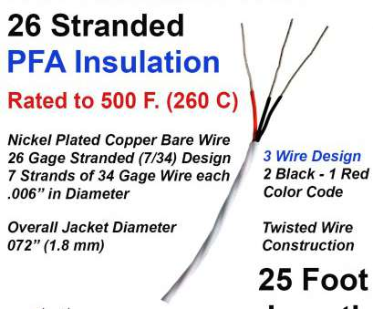 26 gauge wire mm RTD Wire 3 Conductor 26 Gage Stranded, Insulated 25 ft Long 26 Gauge Wire Mm Most RTD Wire 3 Conductor 26 Gage Stranded, Insulated 25 Ft Long Ideas