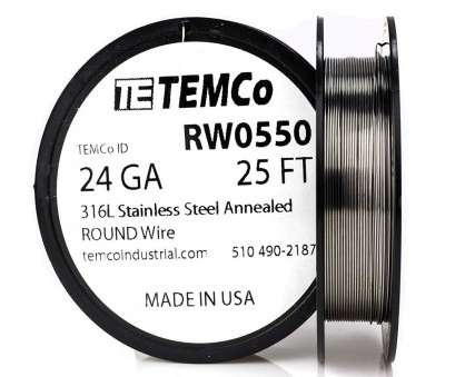 26 gauge wire strength TEMCo Stainless Steel Wire SS 316L, 24 Gauge, FT Non-Resistance, ga, Amazon.com 10 New 26 Gauge Wire Strength Galleries