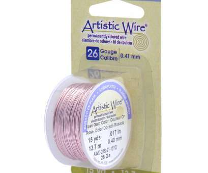 26 gauge wire to mm Artistic Wire 26 Gauge Copper Wire-15yd, Rose Gold 26 Gauge Wire To Mm Cleaver Artistic Wire 26 Gauge Copper Wire-15Yd, Rose Gold Pictures