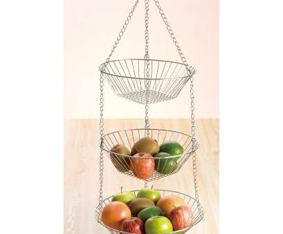 3 tier wire mesh hanging baskets Creative Home Chrome Works 3 Tiered Hanging Baskets 3 Tier Wire Mesh Hanging Baskets Professional Creative Home Chrome Works 3 Tiered Hanging Baskets Pictures