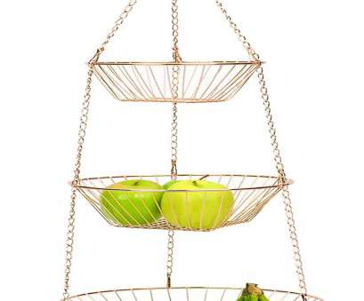 3 tier wire mesh hanging baskets RSVP 3-Tier Copper Wire Hanging Baskets 3 Tier Wire Mesh Hanging Baskets New RSVP 3-Tier Copper Wire Hanging Baskets Collections