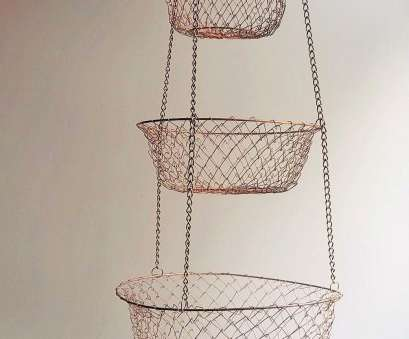 3 tier wire mesh hanging baskets Wire Mesh 3 Tiered Hanging Basket, Copper Tone, Kitchen Storage,, Storage 3 Tier Wire Mesh Hanging Baskets Popular Wire Mesh 3 Tiered Hanging Basket, Copper Tone, Kitchen Storage,, Storage Pictures