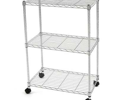 3 tier wire shelving with wheels Amazon.com: Finnhomy Classy Steel Wire Shelving Rack with Wheels, 3 Shelves, Chrome, x, x 34