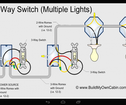 3-Way Switch Wiring Diagram With 3-Lights Fantastic Awesome 3, Switch With 2 Lights Pictures Images, Image At Wiring Diagram Multiple Photos
