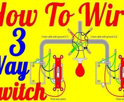 3-Way Switch Wiring Diagram With 3-Lights Top ..., To Wire 3, Switch Wiring Diagrams YouTube At Diagram For Collections