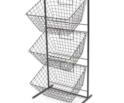 3 wire basket storage unit 3 Tier Metal Display Stand With Square Wire Baskets, Empty 3 Wire Basket Storage Unit Simple 3 Tier Metal Display Stand With Square Wire Baskets, Empty Solutions
