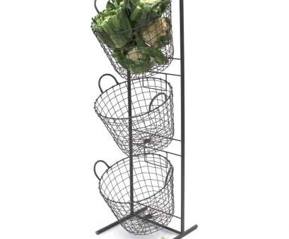 3 wire basket storage unit 3 Tier Metal Display Stand With Wire Baskets, Large, Cauli 3 Wire Basket Storage Unit Simple 3 Tier Metal Display Stand With Wire Baskets, Large, Cauli Galleries