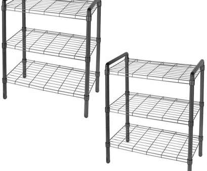 3 wire basket storage unit The, of Storage 23, 3-Tier Black Quick Rack Adjustable Wire Shelving Organizer (2-Pack) 15 Nice 3 Wire Basket Storage Unit Collections