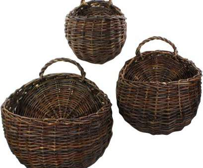 3 wire basket storage unit Wall Mounted Storage Baskets (Set of 3) Image 3 Wire Basket Storage Unit Simple Wall Mounted Storage Baskets (Set Of 3) Image Pictures