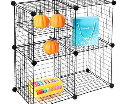 4 cube wire storage shelves Wire Storage Cubes, MaidMAX Free Standing Modular Shelving Units Closet Organization Systems, 4 Grids with 2 Wire Dividers, Black 4 Cube Wire Storage Shelves Creative Wire Storage Cubes, MaidMAX Free Standing Modular Shelving Units Closet Organization Systems, 4 Grids With 2 Wire Dividers, Black Images