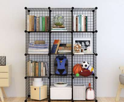 4 cube wire storage shelves Wire Storage Cubes Modular Shelving Unit, Metal Grid Closet Organizer 20cubes 4 Cube Wire Storage Shelves Brilliant Wire Storage Cubes Modular Shelving Unit, Metal Grid Closet Organizer 20Cubes Ideas