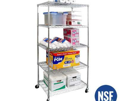13 New 5-Tier Ultrazinctm, Steel Wire Shelving With Wheels Galleries