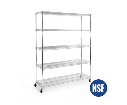 5-tier ultrazinctm nsf steel wire shelving with wheels 5-Tier UltraZinc, Steel Wire Shelving System 18x60x72, Seville Classics, Silver 5-Tier Ultrazinctm, Steel Wire Shelving With Wheels Simple 5-Tier UltraZinc, Steel Wire Shelving System 18X60X72, Seville Classics, Silver Pictures