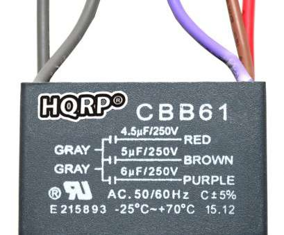 5 wire ceiling fan wiring diagram HQRP Ceiling, Capacitor CBB61 4, 5uf, 5-Wire plus 5 Wire Ceiling, Wiring Diagram Nice HQRP Ceiling, Capacitor CBB61 4, 5Uf, 5-Wire Plus Ideas