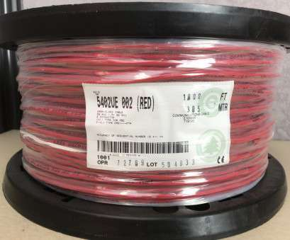 6, 4 Wire Perfect BELDEN 5402UE, RED 20, 4 CONDUCTOR, SECURITY ALARM CABLE, 1000FT Galleries