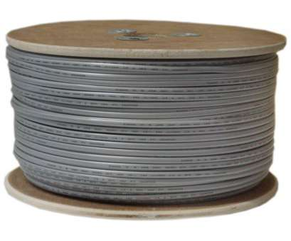 6, 4 Wire Nice Bulk Phone Cord Silver Satin 26/4, AWG 4 Conductor) Spool 1000 Foot Solutions