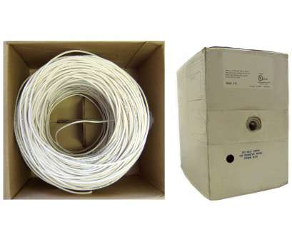 6, 4 Wire Practical Shielded Plenum Security Cable, White, 22/4, AWG 4 Conductor) Photos