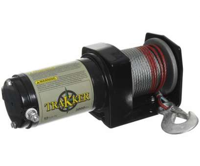 6 gauge wire, winch popular shop trakker 1-hp 2,000-lb universal winch