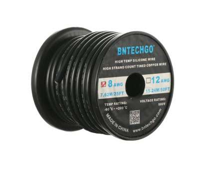 8 awg 600v wire BNTECHGO 8 Gauge Silicone Wire 25 Feet Black Soft, Flexible High Temperature Resistant Highly Efficient 8, Silicone Wire 1650 Strands of Tinned Copper 8, 600V Wire Best BNTECHGO 8 Gauge Silicone Wire 25 Feet Black Soft, Flexible High Temperature Resistant Highly Efficient 8, Silicone Wire 1650 Strands Of Tinned Copper Ideas