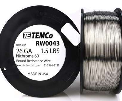 8 gauge nichrome wire TEMCo Nichrome 60 series wire 26 Gauge 1 lb (1413, Resistance, ga, Amazon.com 14 Professional 8 Gauge Nichrome Wire Photos