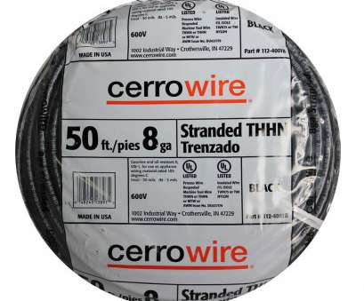 8 gauge wire chart cerrowire 50 ft 8 gauge black stranded thhn wire, 4001br, rh homedepot, THHN Electrical Wire Size Chart Ground Wire THHN 8 Gauge Wire Chart Perfect Cerrowire 50 Ft 8 Gauge Black Stranded Thhn Wire, 4001Br, Rh Homedepot, THHN Electrical Wire Size Chart Ground Wire THHN Ideas