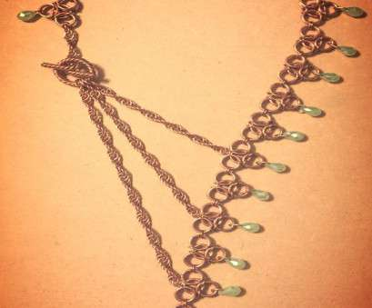 8 gauge wire jewelry Custom Chain mail Necklace in Copper. gauge wire & Made, friend's birthday 8 Gauge Wire Jewelry Fantastic Custom Chain Mail Necklace In Copper. Gauge Wire & Made, Friend'S Birthday Images