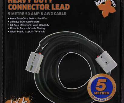 8 gauge wire twin core Maxi Trac HD Connector, Lead 5M, 8 AWG, MAXITRAC, BRANDS 8 Gauge Wire Twin Core Brilliant Maxi Trac HD Connector, Lead 5M, 8 AWG, MAXITRAC, BRANDS Solutions
