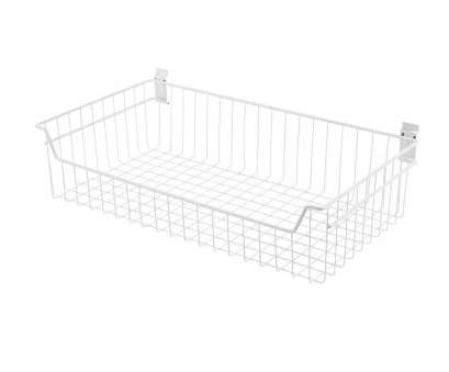 8 inch deep wire shelving 8, x 27.5, White Steel, Deep Wire Basket Bracket 8 Inch Deep Wire Shelving Practical 8, X 27.5, White Steel, Deep Wire Basket Bracket Ideas