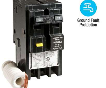 8, Wire Breaker Size Perfect Square D Homeline 40, 2-Pole GFCI Circuit Breaker. +8 Collections