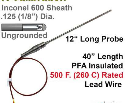 8 awg wire diameter with insulation Thermocouple Sensor, Probe Type K Ungrounded 12 inches long, inch diameter Inconel 8, Wire Diameter With Insulation Practical Thermocouple Sensor, Probe Type K Ungrounded 12 Inches Long, Inch Diameter Inconel Pictures