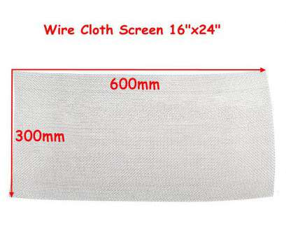 #8 wire mesh screen DWZ, New 30cm * 60cm, Stainless Steel Mesh #8 .035 Wire Cloth Screen, * 24