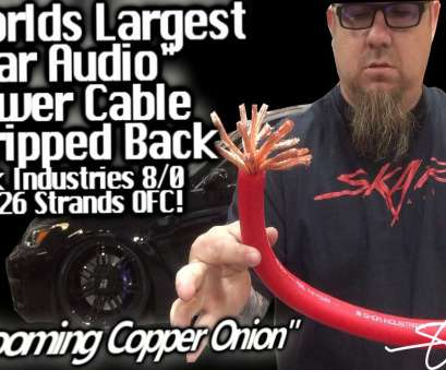 8/0 gauge wire Blooming Copper Onion, MAMMOTH, Shok Audio, Power Cable, 16,226 Strands, First Strip, YouTube 8/0 Gauge Wire Top Blooming Copper Onion, MAMMOTH, Shok Audio, Power Cable, 16,226 Strands, First Strip, YouTube Ideas