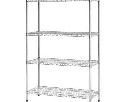9 white wire shelving Excel Hardware Four Shelf, Wire Shelving Unit 10 Creative 9 White Wire Shelving Galleries