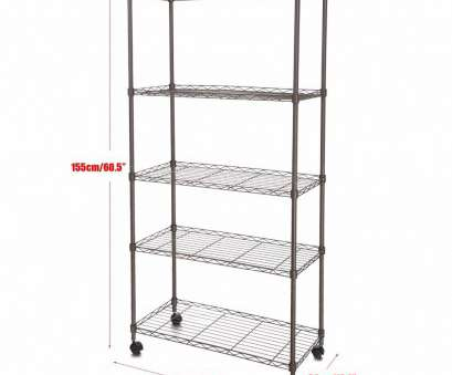 9 white wire shelving Homdox Classic Metal 5 Shelf Wire Shelving Rack Shelves with Wheels, Living Room/Bathroom 14 x 29 x 61inch, 20-in Storage Holders & Racks from Home 9 White Wire Shelving Professional Homdox Classic Metal 5 Shelf Wire Shelving Rack Shelves With Wheels, Living Room/Bathroom 14 X 29 X 61Inch, 20-In Storage Holders & Racks From Home Images