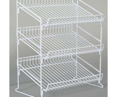 9 white wire shelving White Wire 3 Tier Snack Display, 19 1/2L x, x 23H 9 White Wire Shelving Fantastic White Wire 3 Tier Snack Display, 19 1/2L X, X 23H Collections