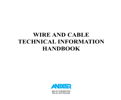 a 22-gauge wire will have a diameter in mils of Anixter Wire & Cable Technical Information Handbook A 22-Gauge Wire Will Have A Diameter In Mils Of Top Anixter Wire & Cable Technical Information Handbook Ideas