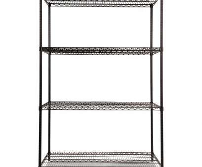 alera black wire shelving Industrial Heavy-Duty Wire Shelving Starter Kit, 4-Shelf,, x, x 72h, Black Alera Black Wire Shelving Professional Industrial Heavy-Duty Wire Shelving Starter Kit, 4-Shelf,, X, X 72H, Black Solutions