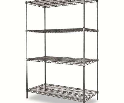 alera wire shelving Alera® Wire Shelving Starter,, Four-Shelf -, x, x,, Black Anthracite 14 Simple Alera Wire Shelving Images