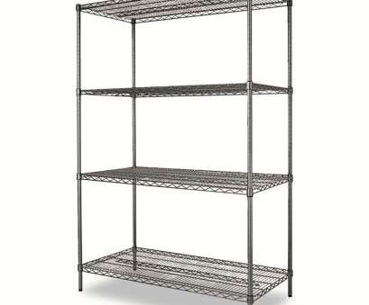 alera wire shelving accessories Alera® Wire Shelving Starter,, Four-Shelf -, x, x,, Black Anthracite 8 Practical Alera Wire Shelving Accessories Photos