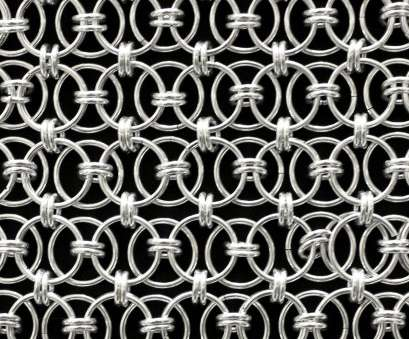 aluminum wire mesh Ring Mesh RMJ-2020 Material: Aluminum wire Wire Dia.: 2.0mm Finish Aluminum Wire Mesh Nice Ring Mesh RMJ-2020 Material: Aluminum Wire Wire Dia.: 2.0Mm Finish Collections