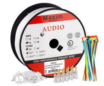 amazon speaker wire 14 gauge Amazon.com: Maximm In Wall Speaker Wire, 50 Feet, 16AWG, Rated 2-Conductor Wire, White , Pure Copper, Banana plugs, Cable clips, ties Included: Amazon Speaker Wire 14 Gauge New Amazon.Com: Maximm In Wall Speaker Wire, 50 Feet, 16AWG, Rated 2-Conductor Wire, White , Pure Copper, Banana Plugs, Cable Clips, Ties Included: Images
