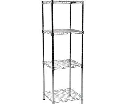 apollo hardware chrome 4-shelf wire shelving 14 x 15 x 48 Amazon.com: Apollo Hardware Chrome 4-Shelf Wire Shelving 14