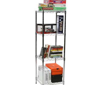 Apollo Hardware Chrome 4-Shelf Wire Shelving 14 X 15 X 48 Top Apollo Hardware 4-Shelf 48'', 15'' W Shelving Unit Galleries